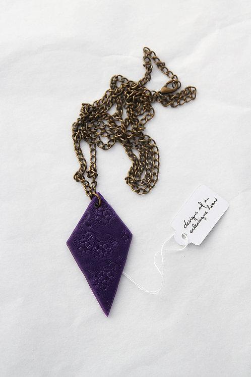 Purple Diamond Drop Necklace