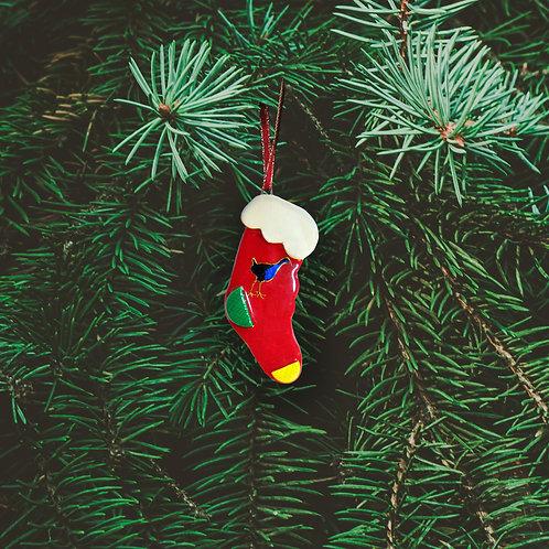 Christmas Kiwiana Pukeko Stocking