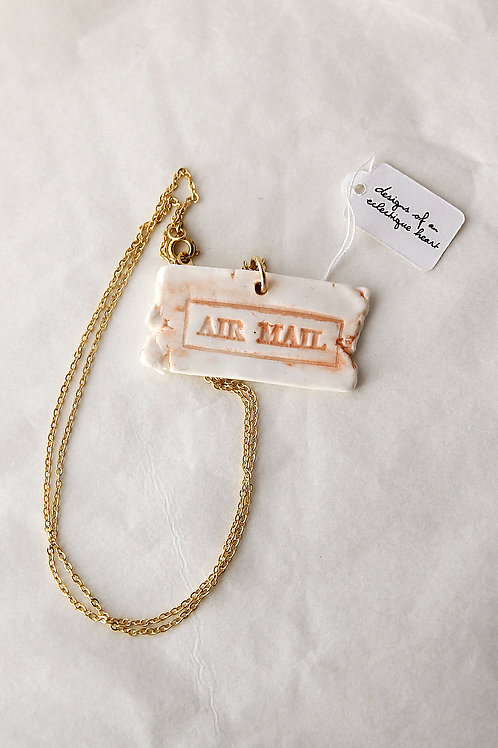 Coral Airmail Necklace #1