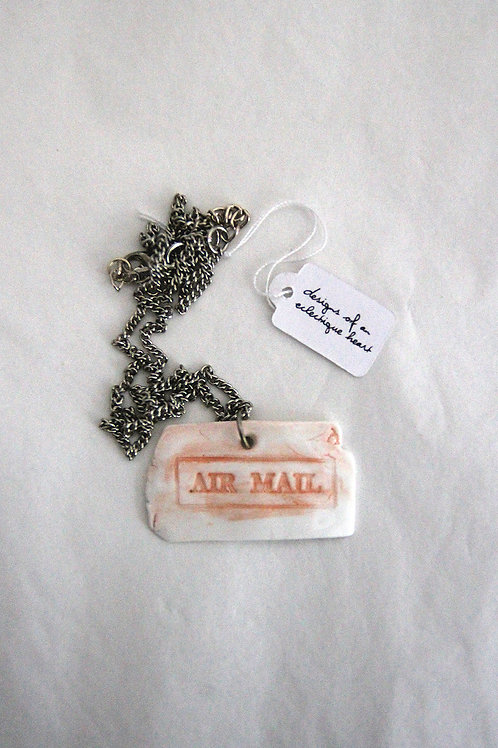 Coral Airmail Necklace #2