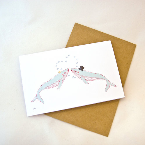 Wedding Card - Whale