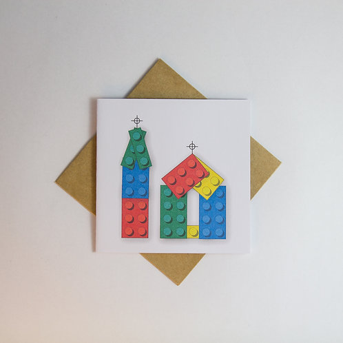 Christchurch Cathedral Lego Card - Small