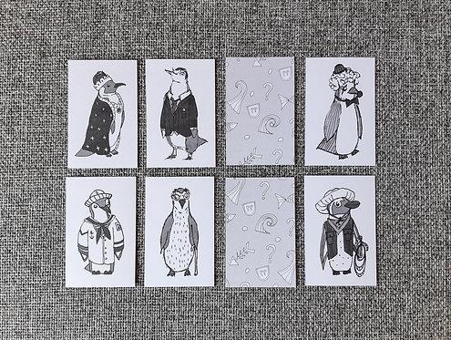 Penguin Personalities - Memory Game - Digital Download