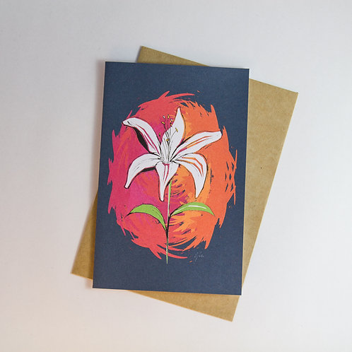 Lily Colour Punch Greeting Card