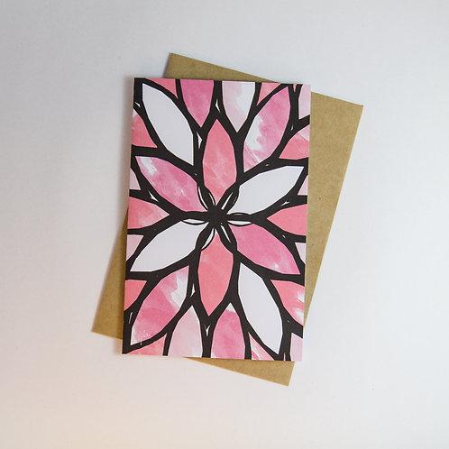 Geo Floral Greeting Card