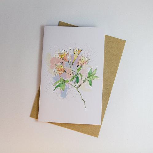 Azaleas Floral Greeting Card