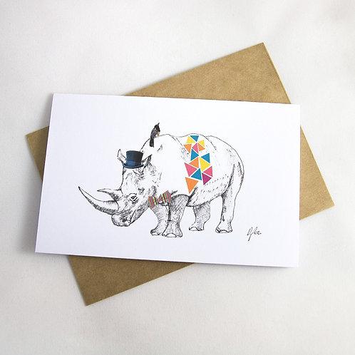 Rhino Birthday/ Special Occasion Card