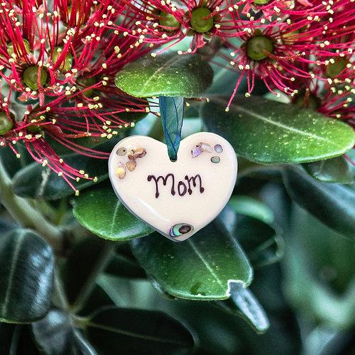 Mini Paua Shell Heart