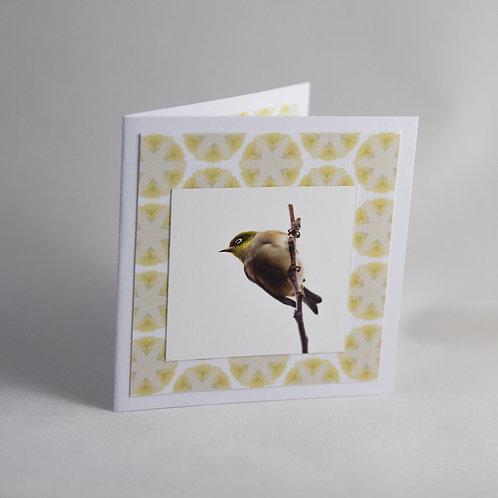 Handmade Craft Waxeye Card