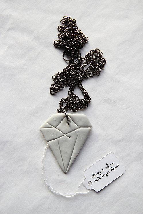 Concrete Diamond Necklace #1
