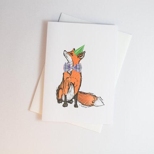 Fox B'day Greeting Card