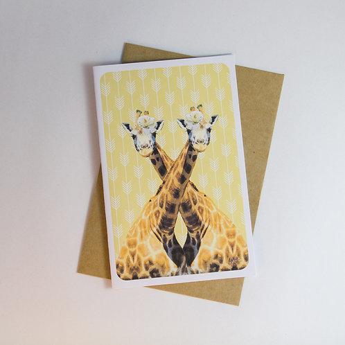 Gay Giraffes - Female Greeting Card