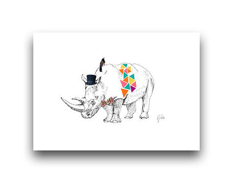 Rhino Fiesta - Illustration