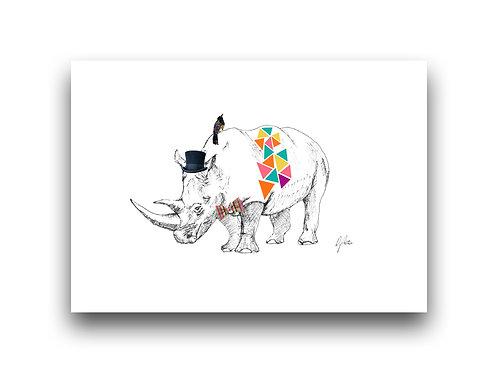Rhino Fiesta - Illustration