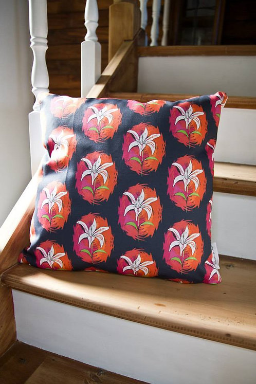 Colour Punch Lily Cushion Cover