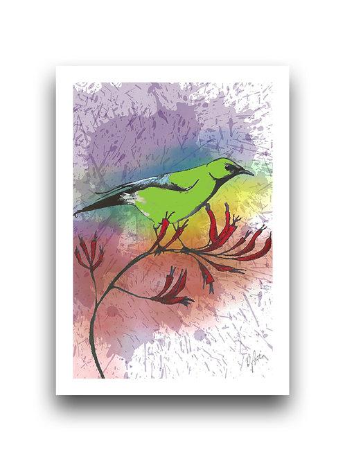 Bell Bird Paint Splatter