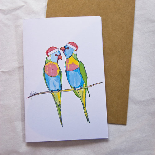 Christmas Lorikeets Card