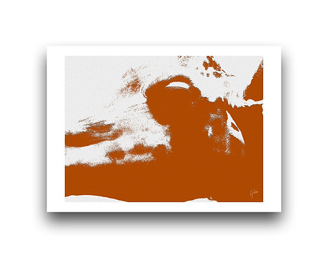 Africa Shadows - Burnt Orange