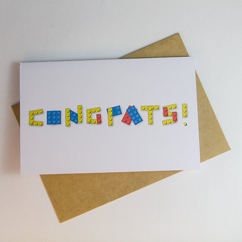 Congrats! Lego Greeting Card