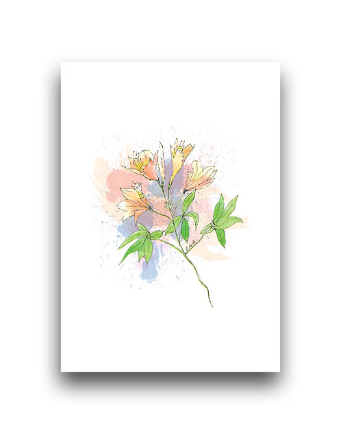 Flowers - Azaleas - Illustration
