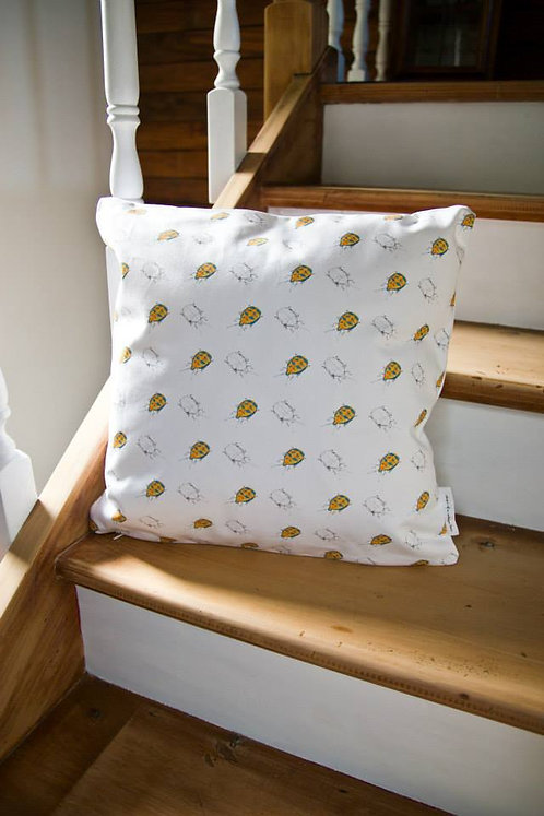Harlequin Beetle Cushion Cover