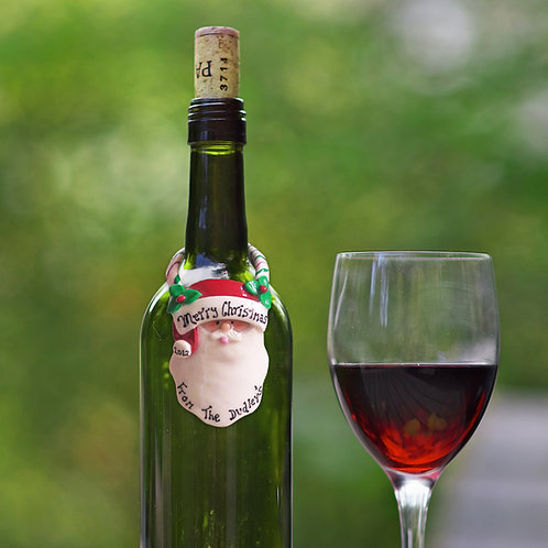 Christmas Wine Bottle Gift Tag