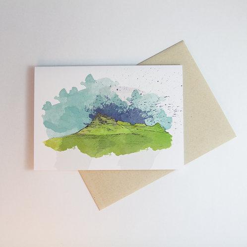 Christchurch Port Hills Greeting Card