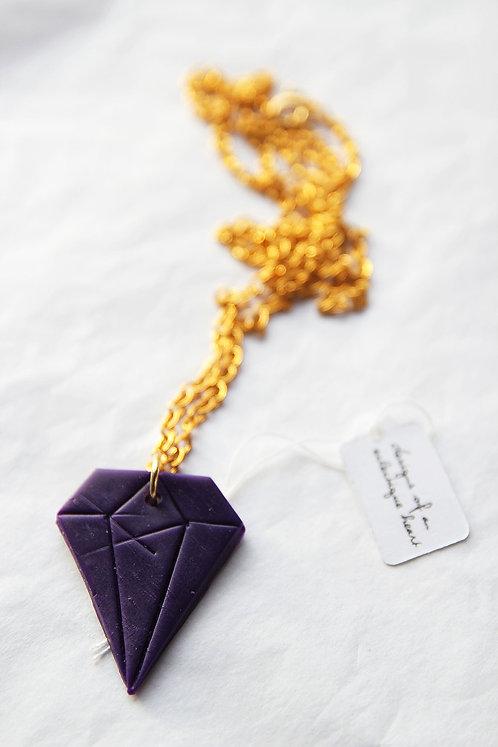 Purple Diamond Necklace #1