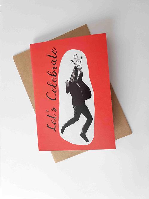 Let's Celebrate Giraffe Greeting Card