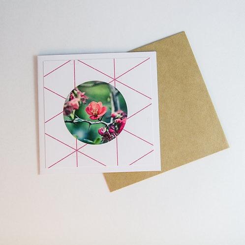 Handmade Craft Japonica Floral Card