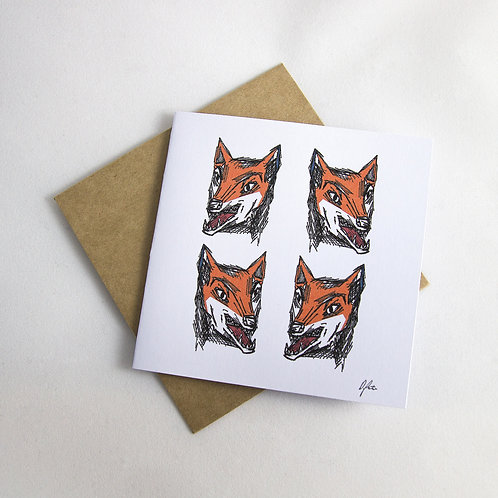 Mr Sly Fox Card - Small