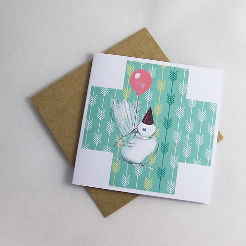 Fantail Birthday/ Special Occasion Card - Small