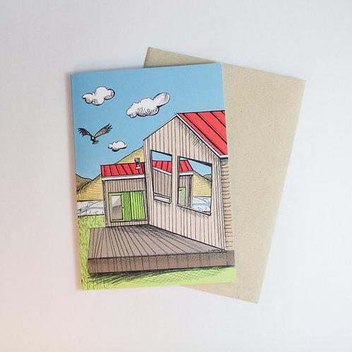 Skewed Landscape Greeting Card