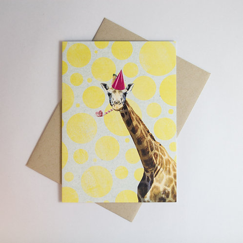Giraffe B'day Greeting Card