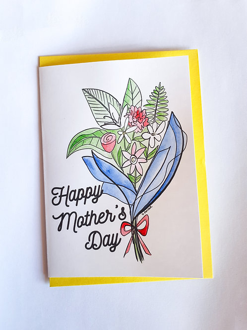 Handpainted Mother's Day Card - Flowers #2