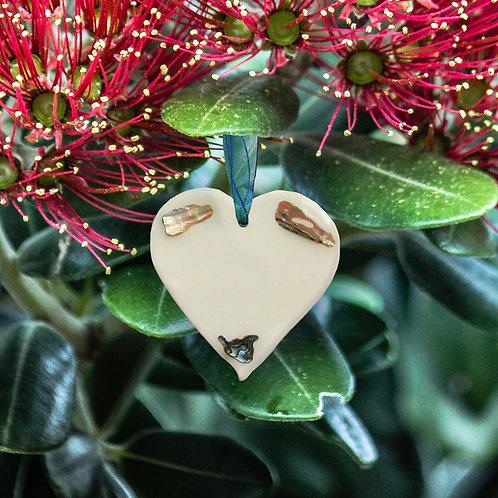 Paua Shell Heart - Triangle