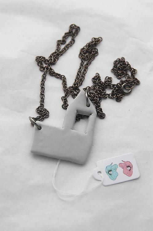 """""""Concrete House"""" Necklace #2"""