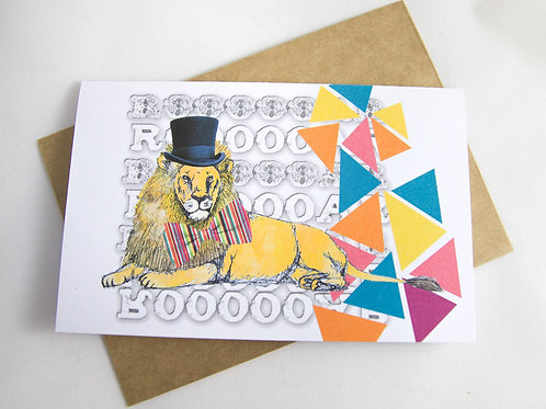 Lion Birthday/ Special Occasion Card