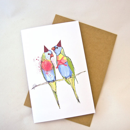 Lorikeets Birthday/ Special Occasion Card