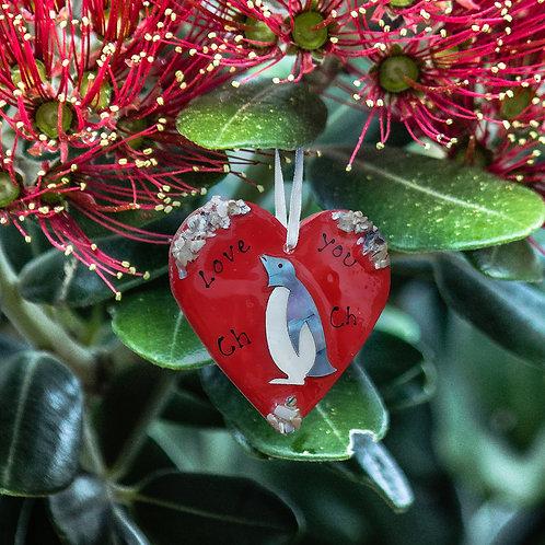 Penguin in Red Heart