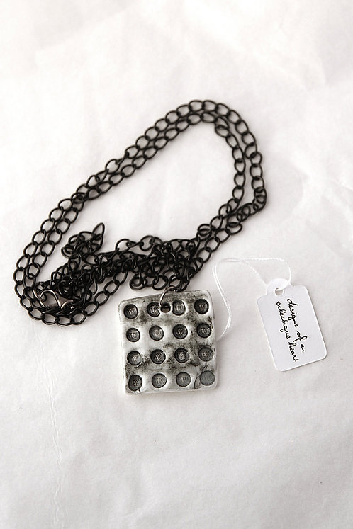 B & W Block Necklace