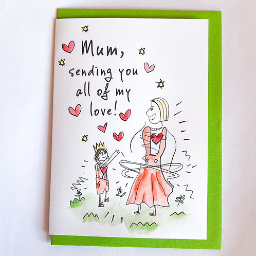 Handpainted Mother's Day Card - Love #1