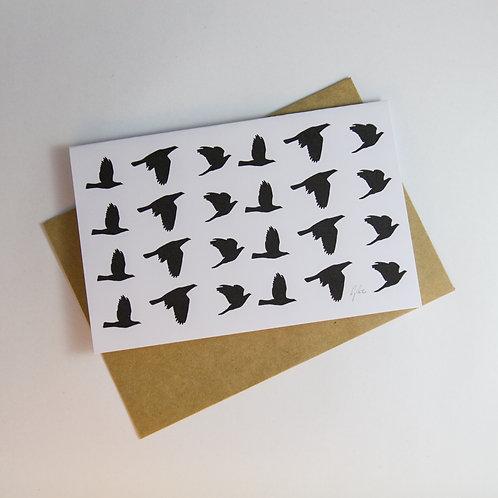 B&W Birds Greeting Card