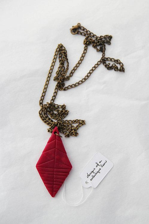Crimson Diamond Drop Necklace