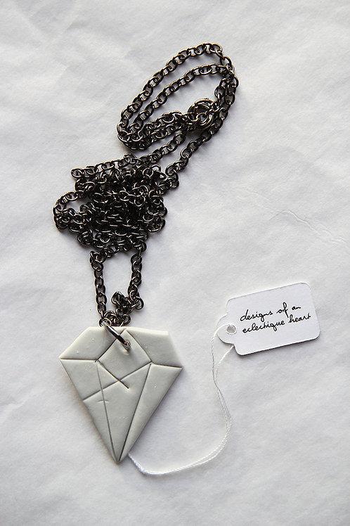 Concrete Diamond Necklace #2