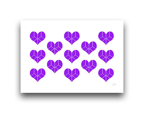 Pieces of my Heart - Pattern - Purple