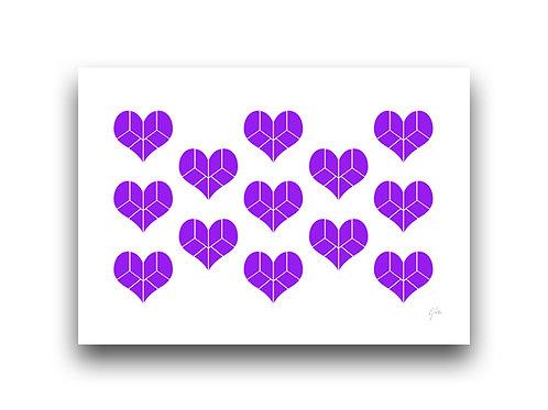 Pieces of my Heart - Pattern - Purple