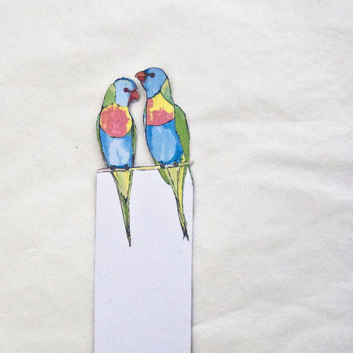 Rainbow Lorikeets Bookmark
