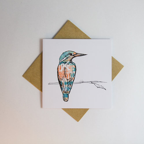Kingfisher Card - Small