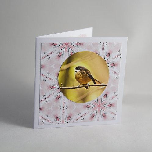 Handmade Craft Fantail Card